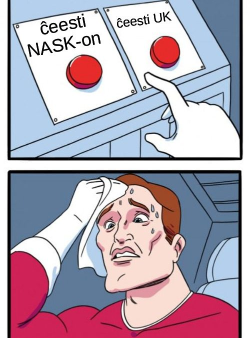 meme about choosing between UK and NASK