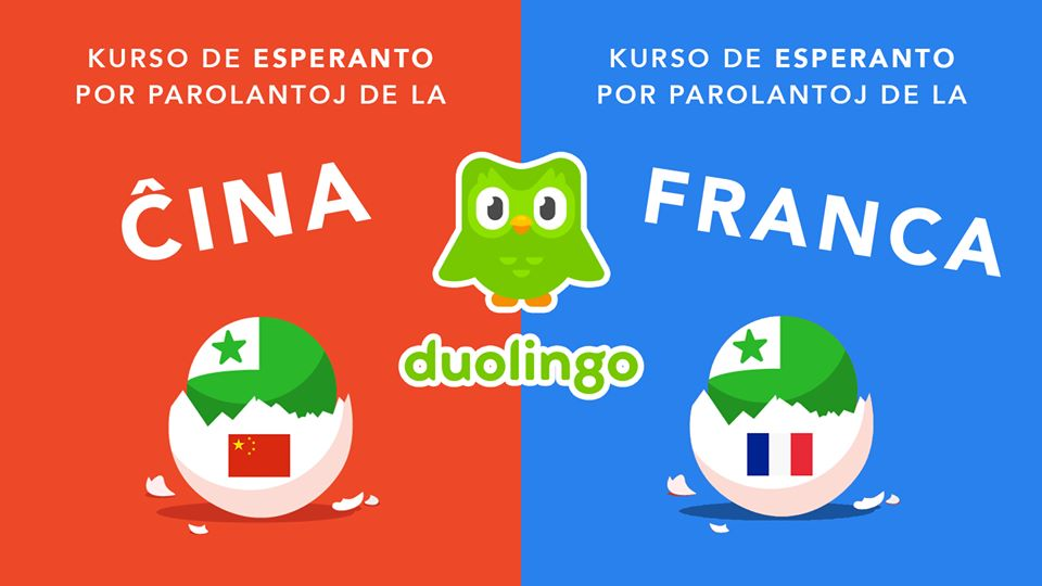 pic showing new Esperanto courses for Chinese and French speakers
